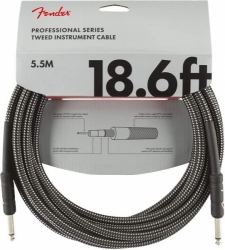 FENDER Professional Series 18.6' Instrument Cable Gray Tweed